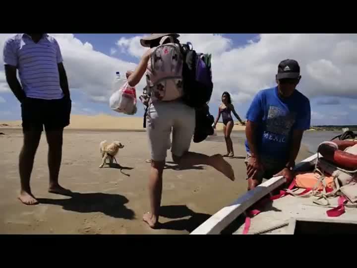Caminhada até o ponto mais alto da praia de Valizas, no Uruguai