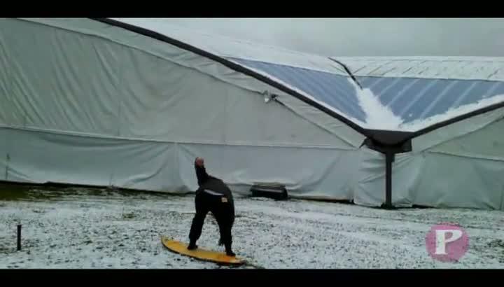 Snowboard nos Pavilhões da Festa da Uva, em Caxias do Sul