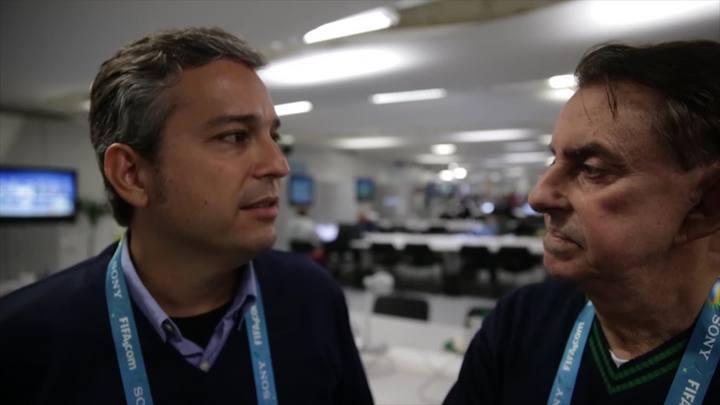 Roberto Alves entrevista o jornalista Renato Ribeiro no Maracanã
