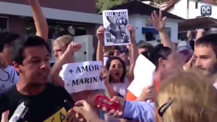 Protestos marcam visita de Marina Silva a Florianópolis