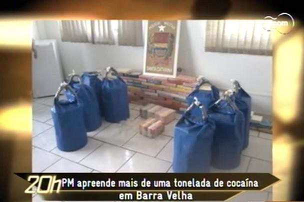 TVCOM 20h - Mais de uma tonelada de pasta base foi encontrada em alto mar dentro de boias em Barra Velha - 15.12.14