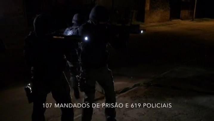 Polícia faz megaoperação para prender mais de 100 suspeitos na Região Metropolitana