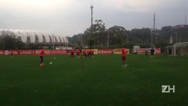 Inter treina para enfrentar o Palmeiras pela Copa do Brasil