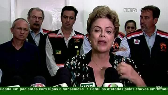 Dilma: Samarco e seus donos devem ser responsabilizados