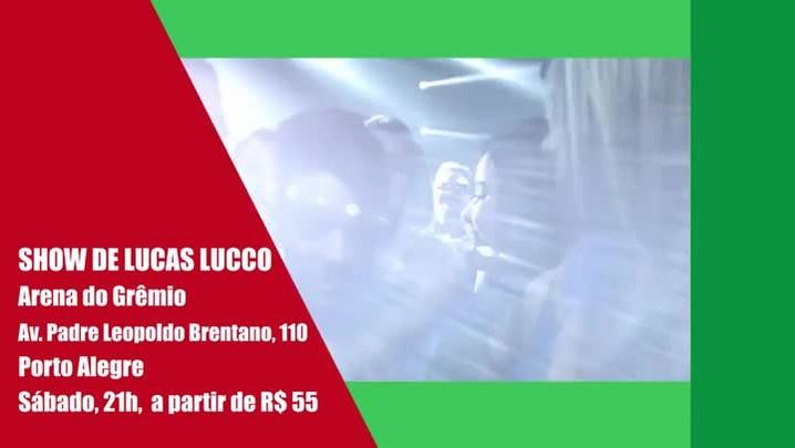 Show de Lucas Lucco e outros destaques do final de semana