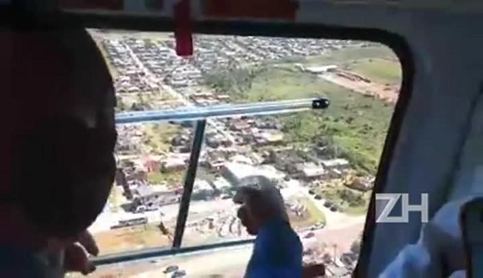 Imagens aéreas mostram destruição em São Francisco de Paula
