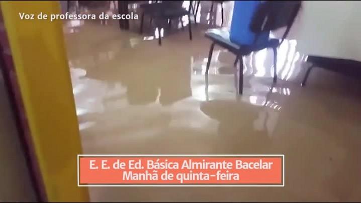 Escola de Porto Alegre é alagada durante temporal