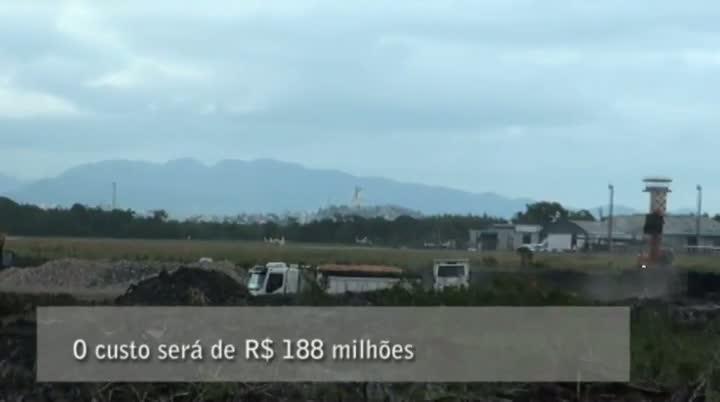 Obras de infraestrutura do novo aeroporto de Florianópolis