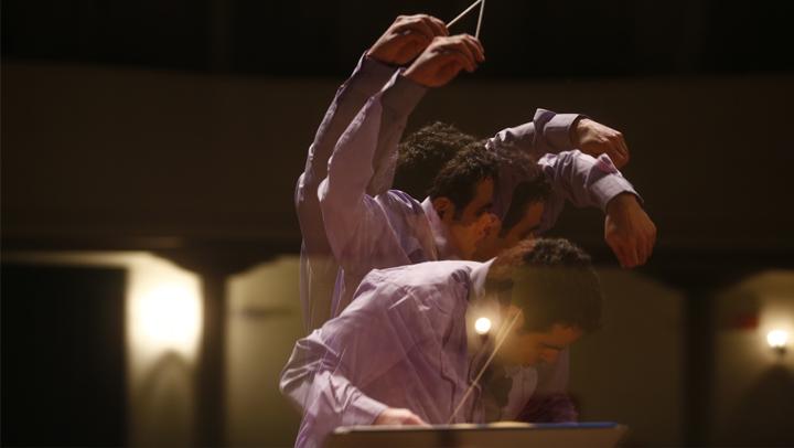 Momentos do último ensaio da Orquestra Filarmonia de Santa Catarina antes da abertura de apresentações