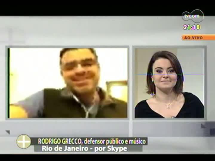 TVCOM Tudo Mais - Defensor público e músico, Rodrigo Grecco fala sobre o show que fez na JMJ