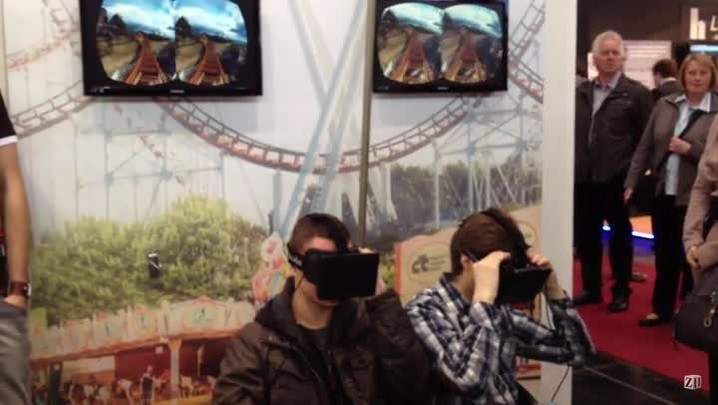 Óculos cria realidade virtual