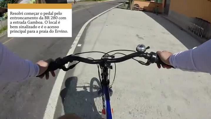 Bike repórter - Pedal pela praia do Ervino