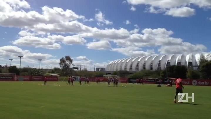 Confira imagens do treino do Inter desta terça-feira