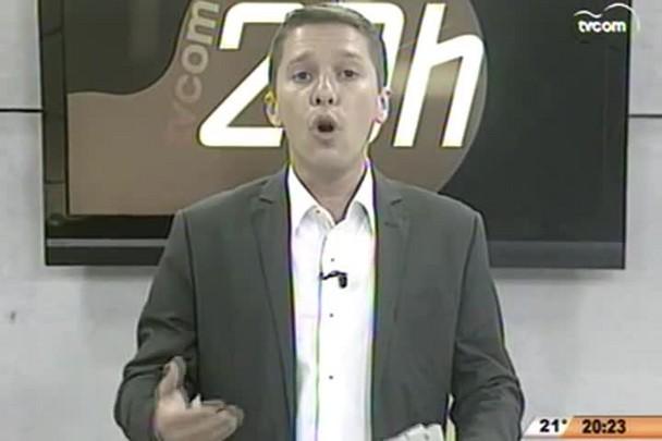 TVCOM 20 Horas - Chuva forte preocupa moradores e defesa civil - 27.05.15