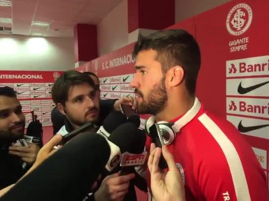 Alisson lembra crescimento no Inter