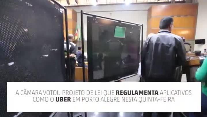 Dia de votação do Uber na Câmara de POA
