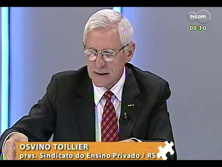 Mãos e Mentes - presidente do Sinepe/RS, Osvino Toillier - 25/01/2013 - bloco 4