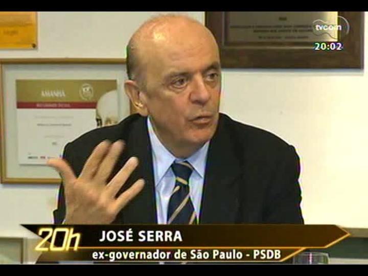 TVCOM 20 Horas - Saiba como foi a visita do tucano José Serra a Porto Alegre - Bloco 1 - 09/10/2013