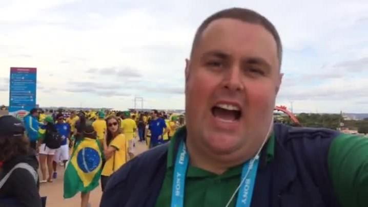 Gigante na Copa: até Shakira veio ver Brasil x Camarões