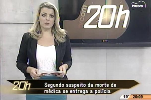 TVCOM 20 Horas - Segundo suspeito da morte de médica se entrega a polícia - 30.04.15
