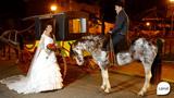 Noivos a cavalo, noivas de prenda: veja imagens de casamentos gaud�rios