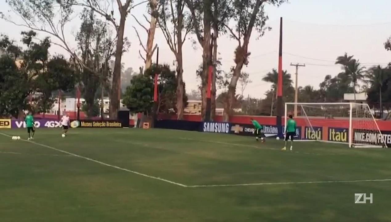 Último treino da Seleção Brasileira antes da final