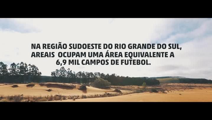 """Conheça os areais, \""""desertos\"""" que brotam no Pampa"""