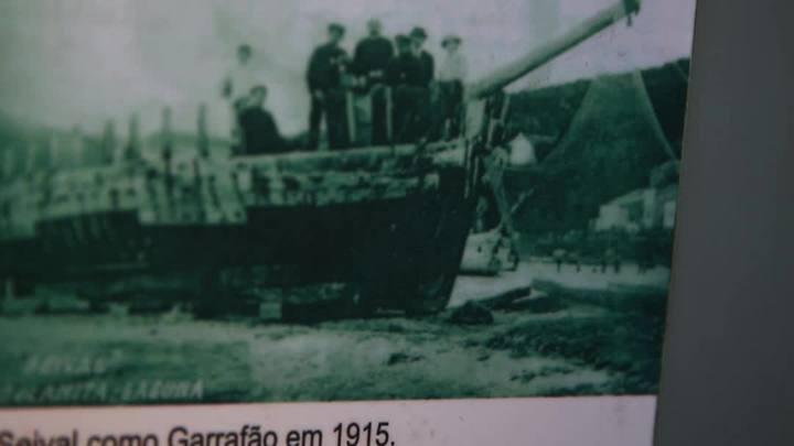 Tesouros Farrapos: lampião que pertenceu à embarcação Seival