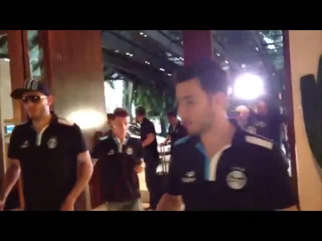 Confira como foi a chegada do Grêmio em São Paulo - 24/09/2013