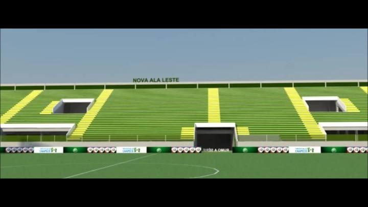 Projeto da nova Arena Condá em Chapecó