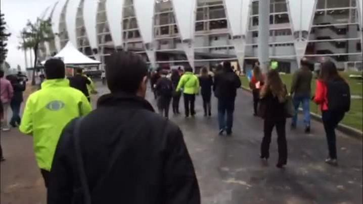 Teste da Fifa: Após passar pela primeira checagem de segurança, o torcedor rapidamente chegará até o Beira-Rio. 06/06/2014