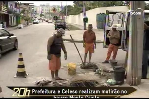 TVCOM 20h - Prefeitura e Celesc realizam mutirão no bairro Monte Cristo - 11.12.14