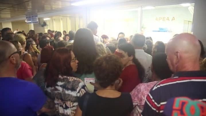 Confusão e tumulto durante remarcação de consultas no HU
