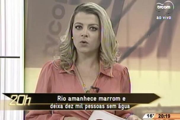 TVCOM 20 Horas - Rio amanhece marrom e deixa dez mil pessoas sem água - 12.06.15