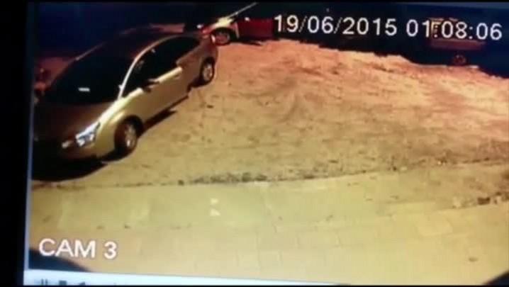Momento em que mulher é assassinada em Pelotas