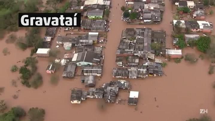 Imagens aéreas mostram alagamentos na Região Metropolitana