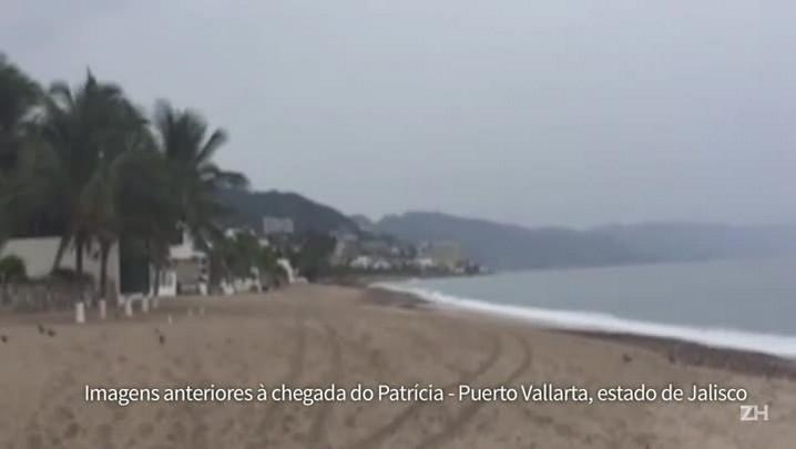 Furacão Patricia chega ao México