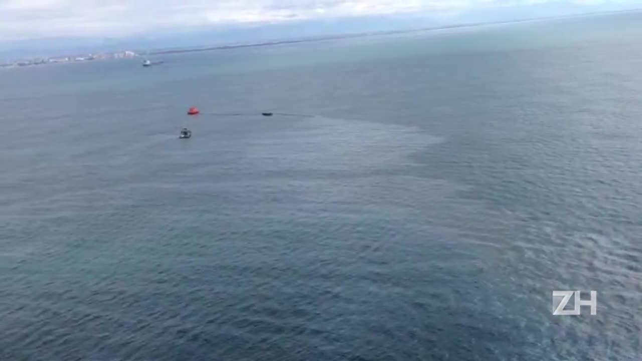 Polícia divulga imagens do vazamento de petróleo no Litoral Norte