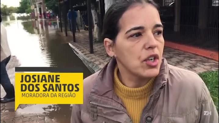 Enchente deixa desabrigados em São Jerônimo