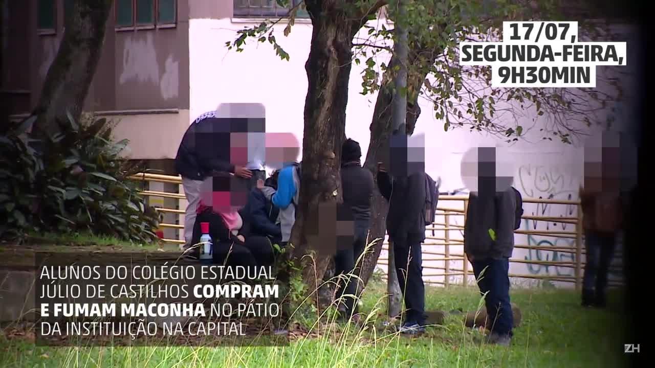 Estudantes do Colégio Júlio de Castilhos consumem drogas dentro da instituição