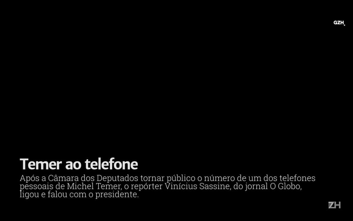 Ouça o diálogo entre Michel Temer e repórter de O Globo