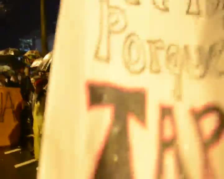 Manifestação em Itajaí
