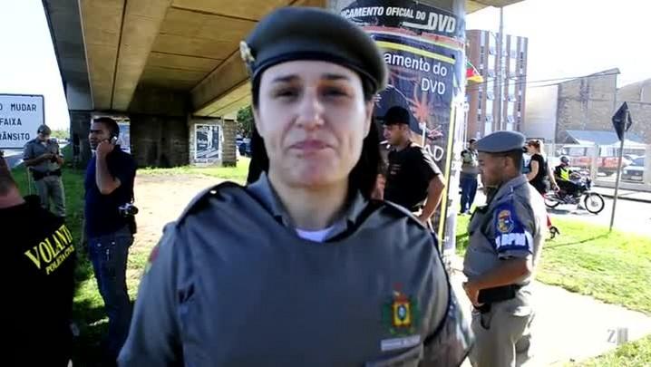 Capitã explica confronto entre marginais com a Polícia em Porto Alegre
