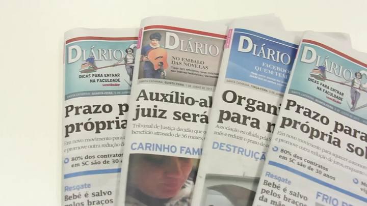 Chamadas Diário Catarinense 24 de maio de 2014