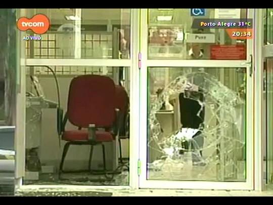 TVCOM 20 Horas - Polícia busca bandidos que assaltaram dois bancos simultaneamente - 09/12/2014