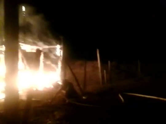 Incêndio no bairro Nova Brasília em Joinville