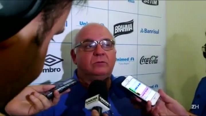 Presidente do Grêmio reclama da arbitragem