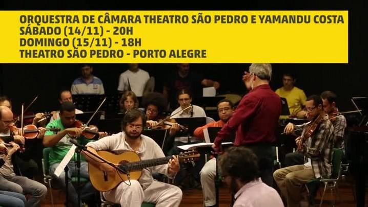 Yamandu Costa ensaia com a Orquestra de Câmara Theatro São Pedro