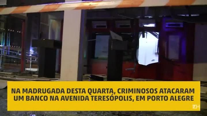 Bandidos explodem caixas eletrônicos na zona sul de Porto Alegre