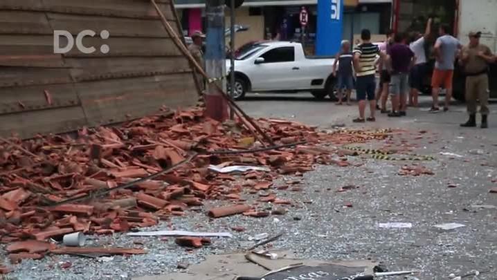 Explosão em padaria destrói prédio e assusta moradores na cidade de São João Batista